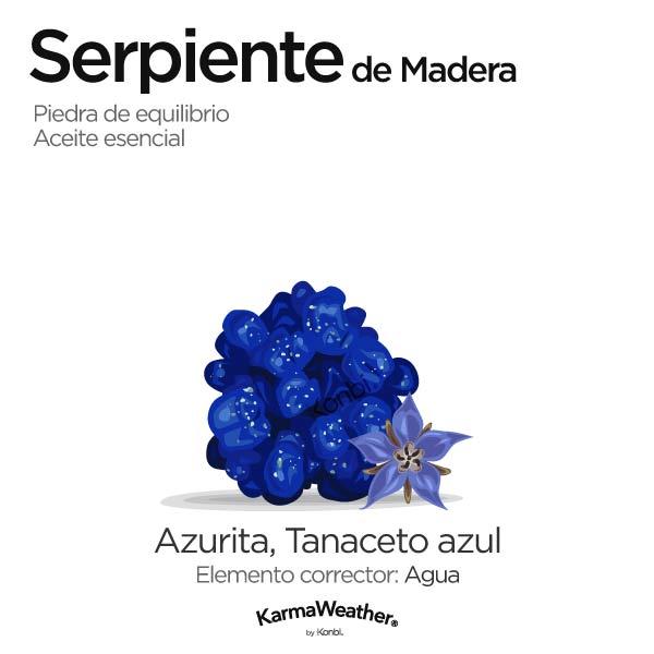 Serpiente de Madera: piedra de equilibrio y aceite esencial