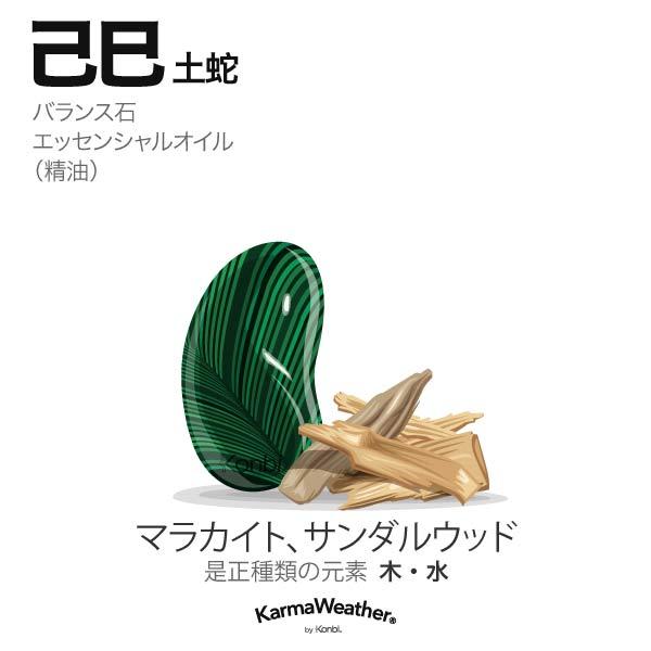 土蛇(己巳):バランス石、エッセンシャルオイル
