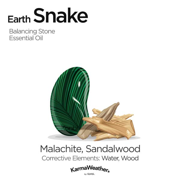 Year of the Earth Snake's balancing stone and essential oil