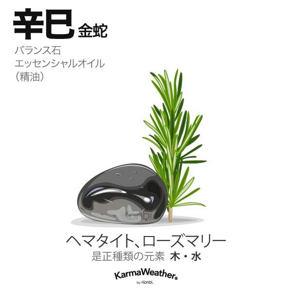 金蛇(辛巳):バランス石、エッセンシャルオイル
