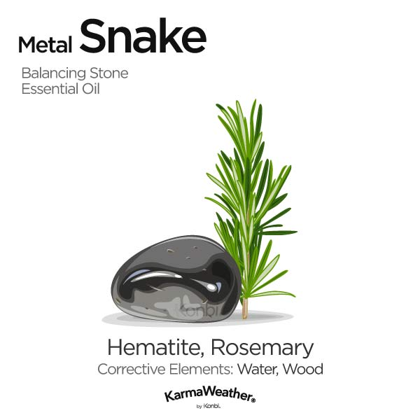 Year of the Metal Snake's balancing stone and essential oil