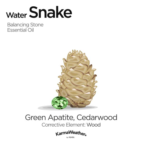 Year of the Water Snake's balancing stone and essential oil