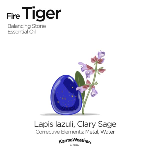 Year of the Fire Tiger's balancing stone and essential oil
