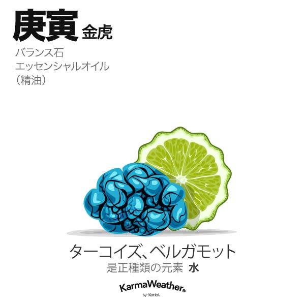金虎(庚寅):バランス石、エッセンシャルオイル