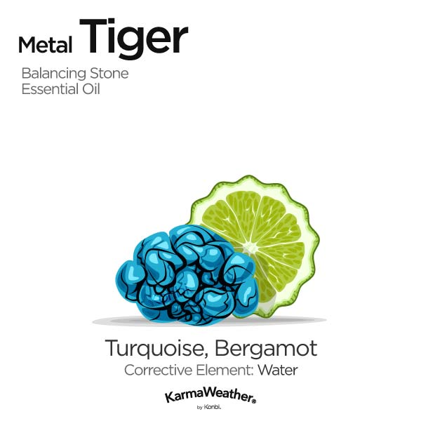 Year of the Metal Tiger's balancing stone and essential oil