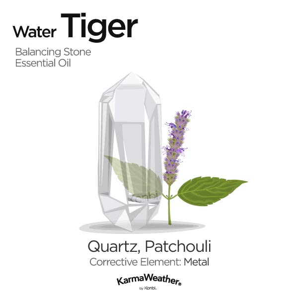 Year of the Water Tiger's balancing stone and essential oil