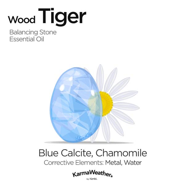 Year of the Wood Tiger's balancing stone and essential oil
