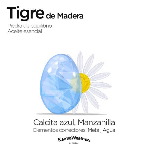 Tigre de Madera: piedra de equilibrio y aceite esencial