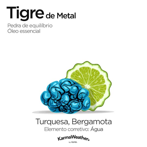 Tigre de Metal: pedra de equilíbrio e óleo essencial