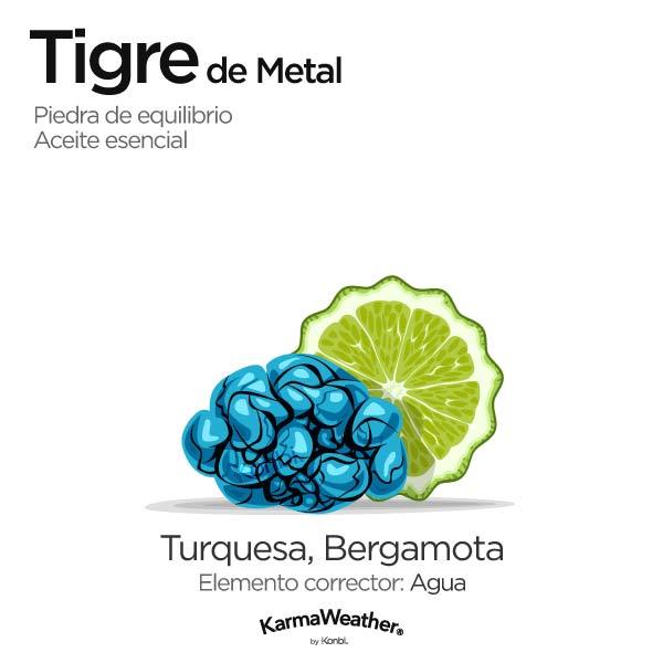 Tigre de Metal: piedra de equilibrio y aceite esencial