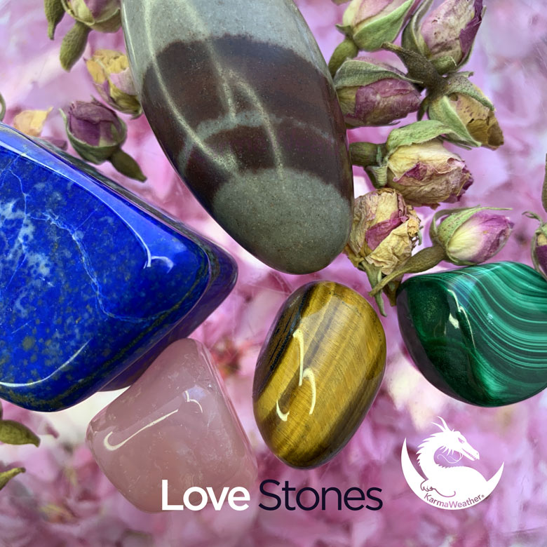 Top 5 crystals and love stones, by KarmaWeather