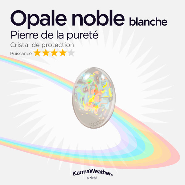 Opale noble blanche